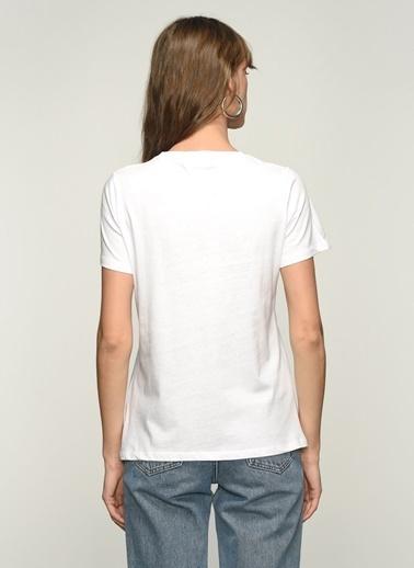 NGSTYLE Ngkss21Ts0087 Bisiklet Yaka Tshirt Beyaz